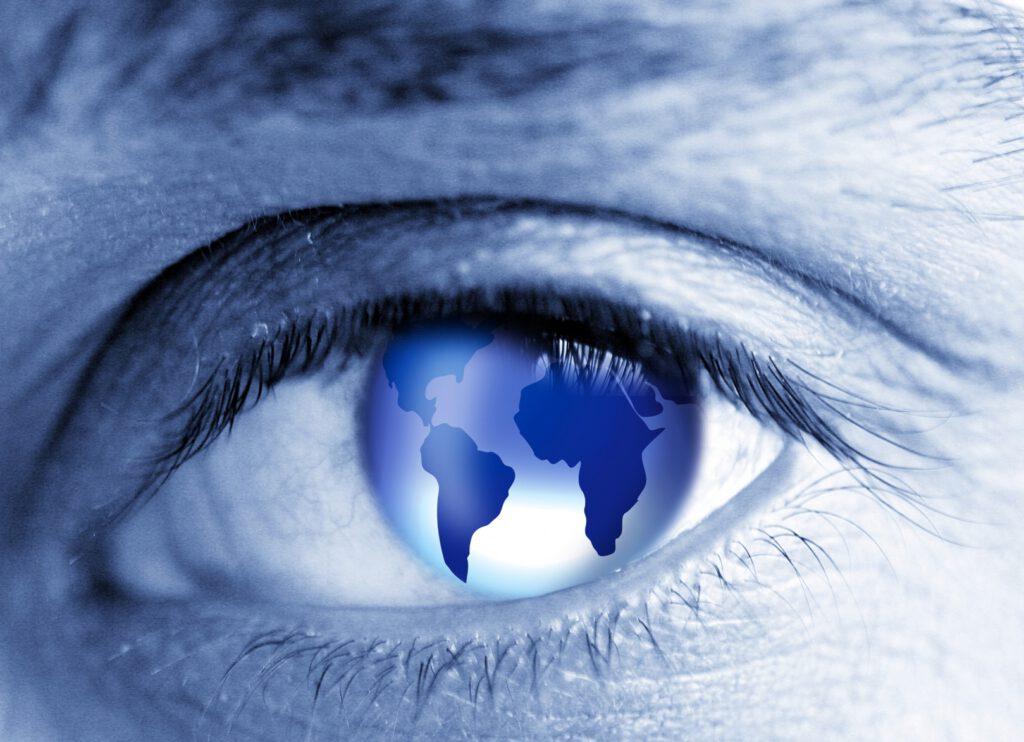 world in the eye